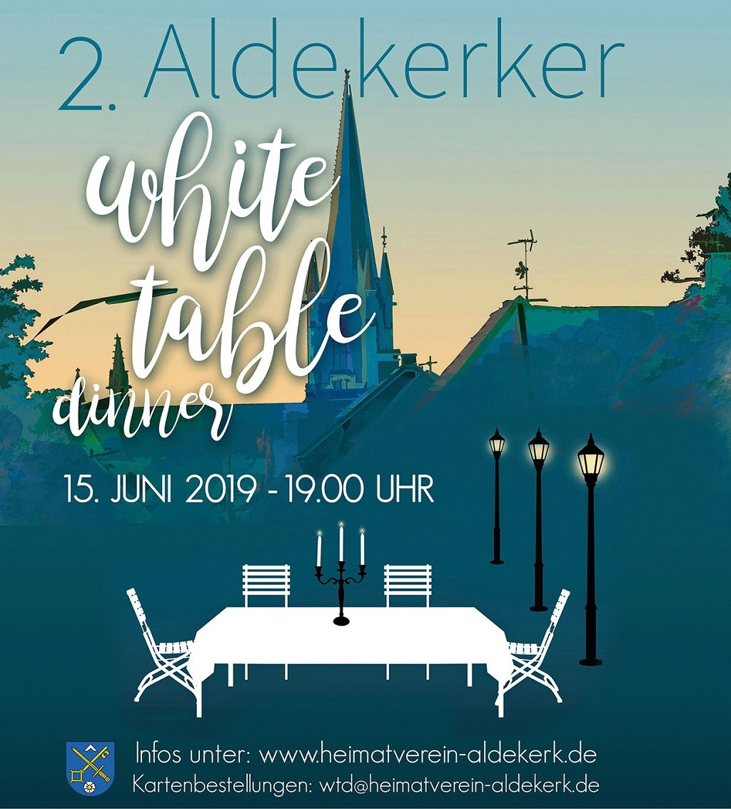 Plakat White Table Dinner 2019